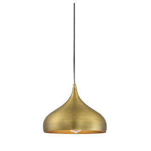 Fredrick Natural Brass One-Light Pendant