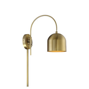 Artemis Natural Brass One-Light Adjustable Wall Sconce
