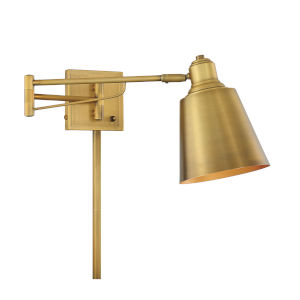 Essex Natural Brass One-Light Adjustable Wall Sconce