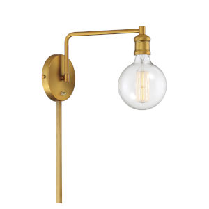 Pax Natural Brass One-Light Wall Sconce
