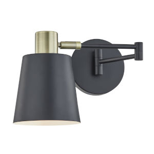 Nicollet Black Five-Inch One-Light Wall Sconce
