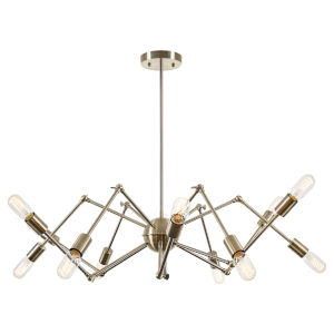 Uptown Antique Brass 44-Inch 12-Light Chandelier