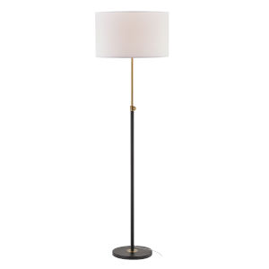 Selby Black and Antique Brass 53-Inch One-Light Floor Lamp
