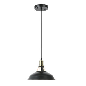 Fulton Black and White 11-Inch One-Light Pendant