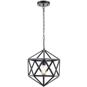 Fulton Black 16-Inch One-Light Pendant