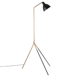 Uptown Black and Gold 64-Inch One-Light Floor Lamp