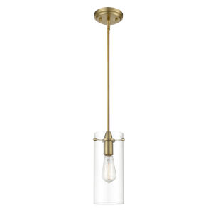 Cooper Brushed Brass Five-Inch One-Light Mini Pendant