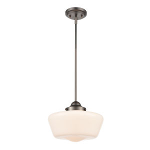 Selby Modern Bronze and White 12-Inch One-Light Pendant