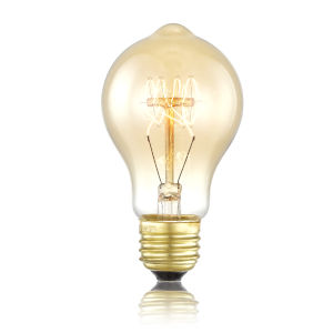 Orange Two-Inch Edison Light bulb, Set of 4