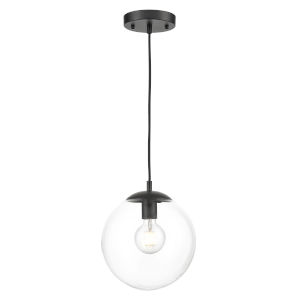 Nicollet Black and Transparent 10-Inch One-Light Pendant