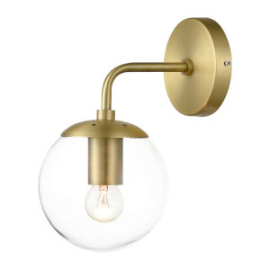 Nicollet Brushed Brass Six-Inch One-Light Wall Sconce