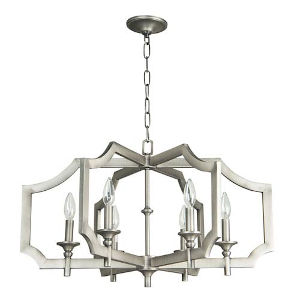 Elle Antique Nickel 27-Inch Six-Light Chandelier