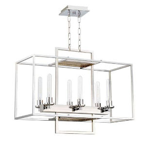 Elle Chrome Six-Light Pendant