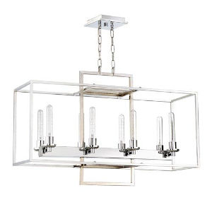 Elle Chrome Eight-Light Pendant