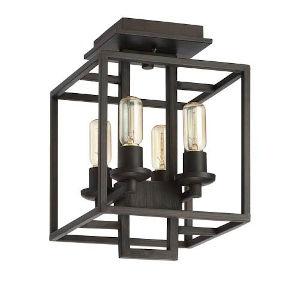 Elle Bronze Four-Light Semi Flush Mount