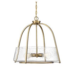Ava Warm Brass Four-Light Pendant