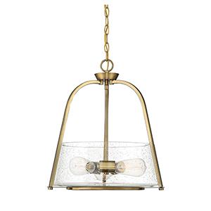 Ava Warm Brass Three-Light Pendant
