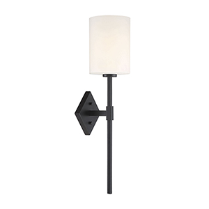 Anita Matte Black One-Light Wall Sconce