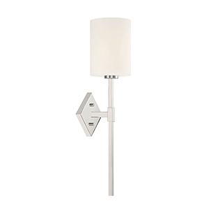 Anita Polished Nickel One-Light Wall Sconce