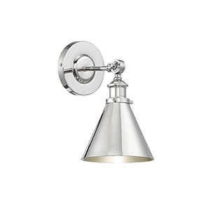 Nora Polished Nickel One-Light Wall Sconce