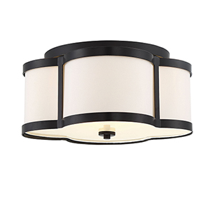 Anna Classic Bronze Three-Light Semi-Flush