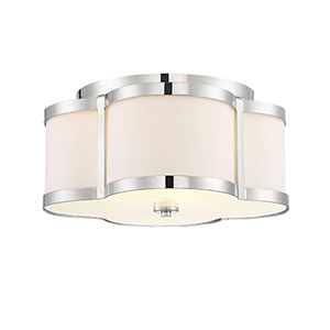 Anna Polished Nickel Three-Light Semi-Flush