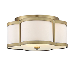 Anna Warm Brass Three-Light Semi-Flush
