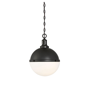 Lyndale Matte Black Two-Light Pendant