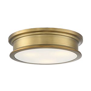 Anita Warm Brass Three-Light Flush Mount