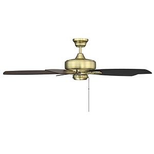 Eloise Estate Brass 52-Inch Ceiling Fan