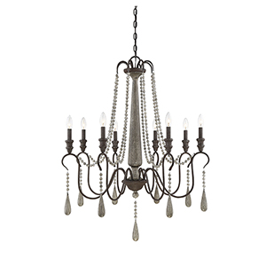 Hana Weathered Ash Eight-Light Chandelier
