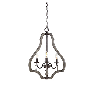Hana Weathered Ash Three-Light Lantern Pendant