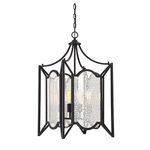 Russell English Bronze Four-Light Pendant