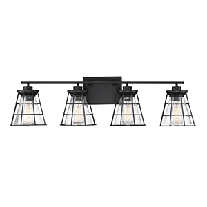 Jackson Black Four-Light Bath Vanity