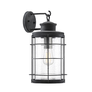 Jackson Oxidized Black One-Light Outdoor Wall Sconce
