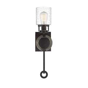 Revolution Noblewood with Iron One-Light Wall Sconce