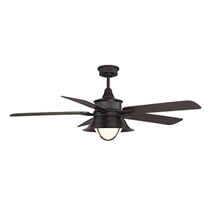 Revolution English Bronze One-Light Ceiling Fan