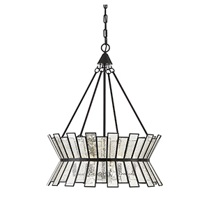 Amara English Bronze Six-Light Chandelier