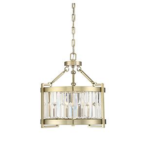 Leighton Noble Brass Three-Light Pendant