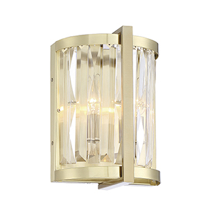 Leighton Noble Brass Two-Light Wall Sconce