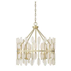 Diana Noble Brass Five-Light Pendant