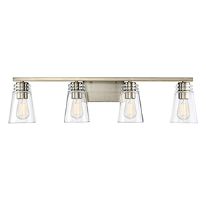 Castor Noble Brass Four-Light Bath Vanity