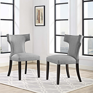Cooper Light Gray Dining Chair, Set of Two
