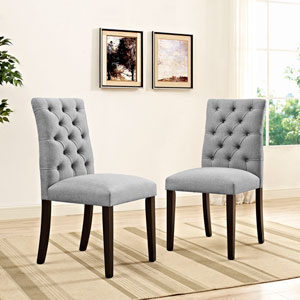 Whittier Light Gray Dining Chair, Set of Two