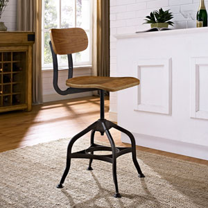 River Station Brown Laminated Bentwood Seat and Back Bar Stool