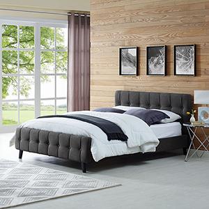 Nicollet Gray Wood Queen Bed