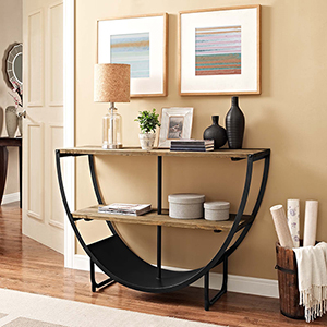 Fulton Brown 50-Inch Old Pine and Steel Console Table