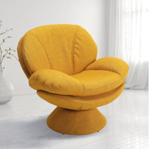 Selby Straw Yellow Fabric Armed Leisure Chair