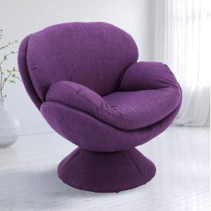 Nicollet Purple Fabric Armed Leisure Chair