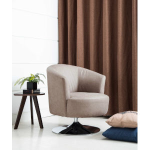Nicollet Chrome Gray Fabric Armed Leisure Chair